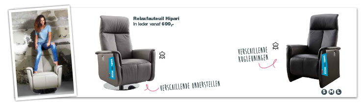 IN.HOUSE Hipari relaxfauteuil