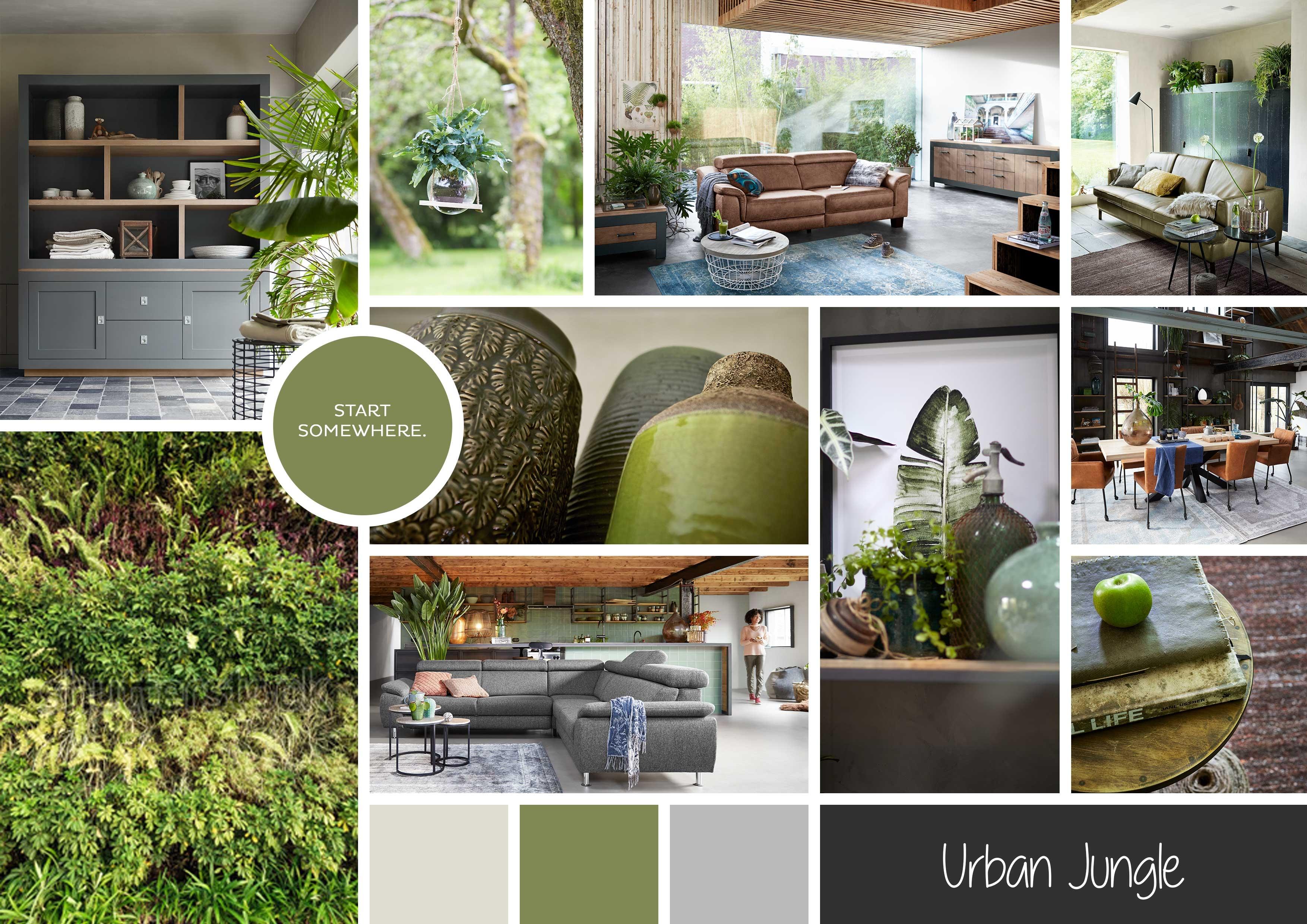 Urban Jungle Inspiratie : Urban jungle woontrend