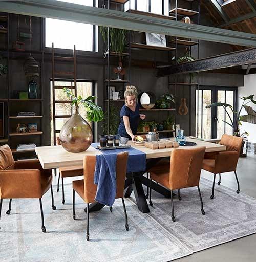 Tips voor een industriële eetkamer