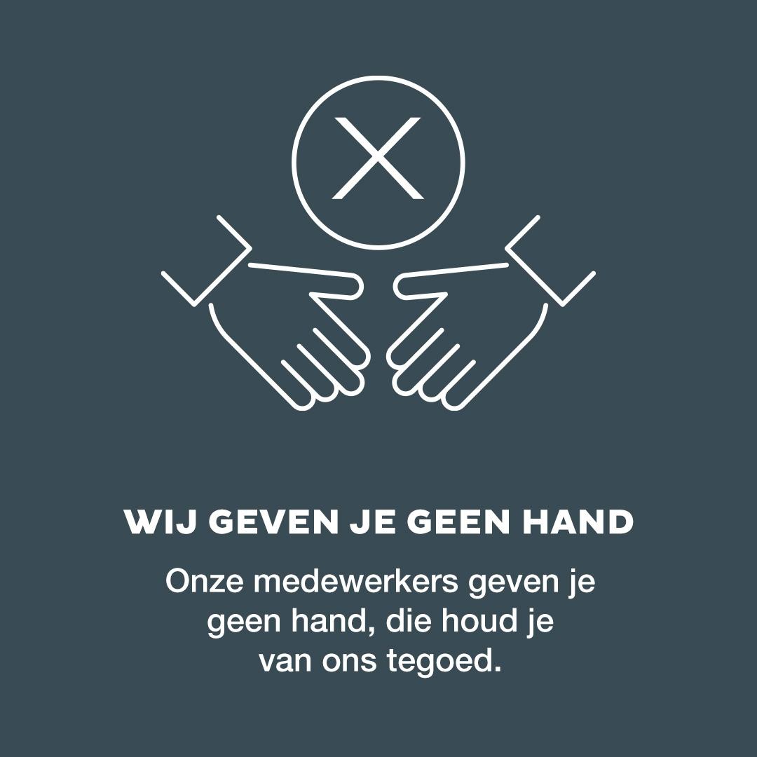 We geven geen hand