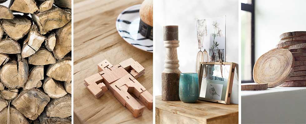 hout accessoires eettafel kasten stoelen