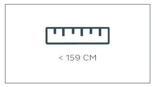 tot 159 cm