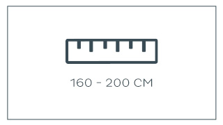 160 - 200 cm