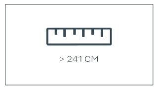 groter dan 241 cm