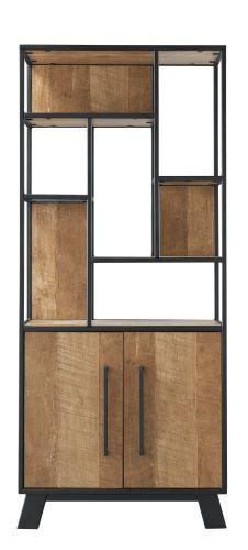 Opbergkast Captona houtstructuur/metaal
