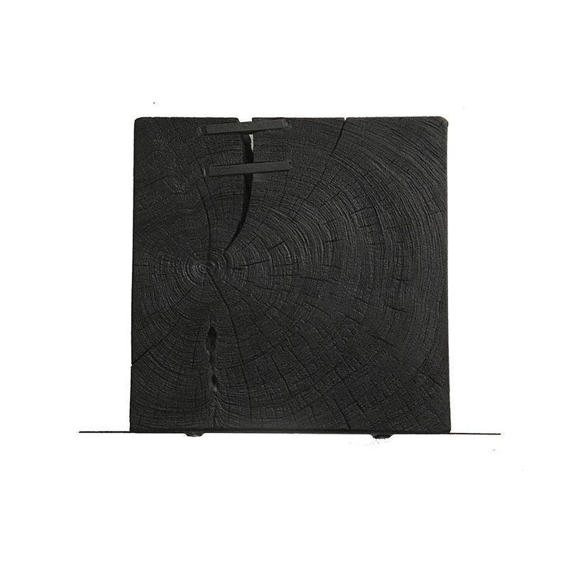 Wandplank PLAQUE Hout en metaal