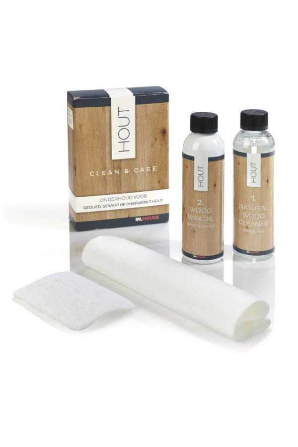 Clean & Care geolied, gewaxt & onbewerkt hout