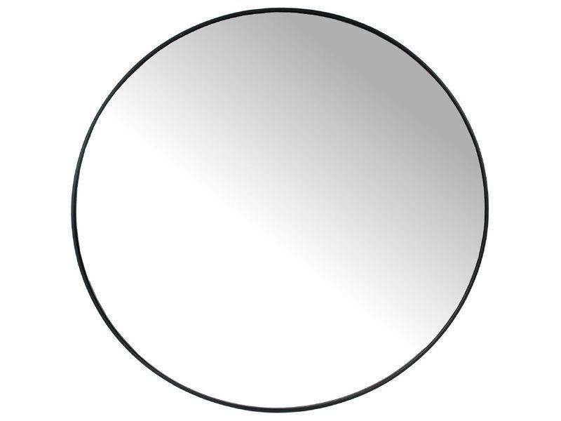 Spiegel metaal zwart rond 80cm