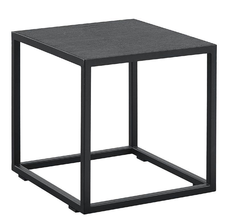 Bijzettafel Domala vierkant zwart
