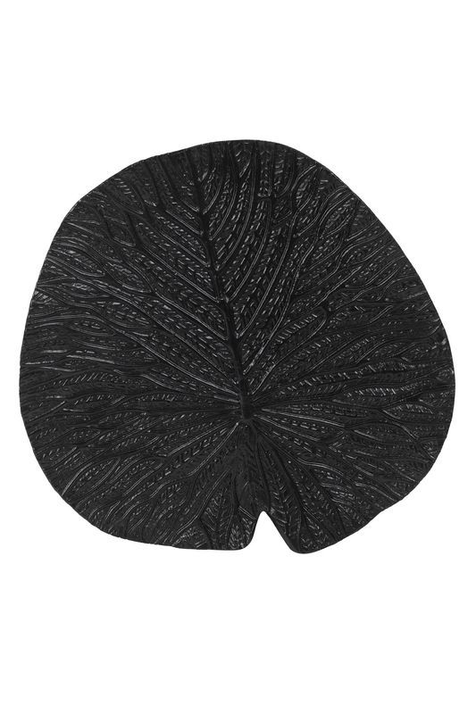 Ornament Leaf zwart
