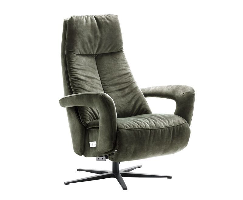 Relaxfauteuil Lomani donkergroen