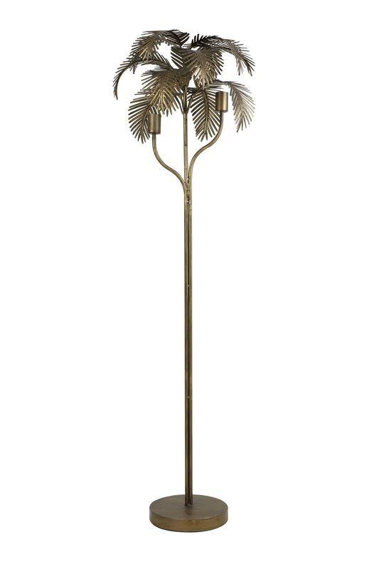 Vloerlamp Palm antiek brons