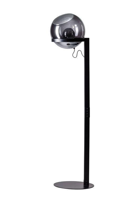Borro vloerlamp m.zw./glas smoke