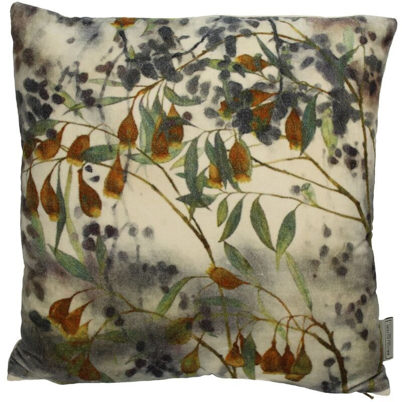 Cushion branches velvet green 45x45cm
