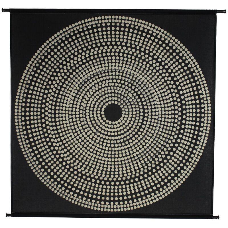 Wall hanging circles polyester black