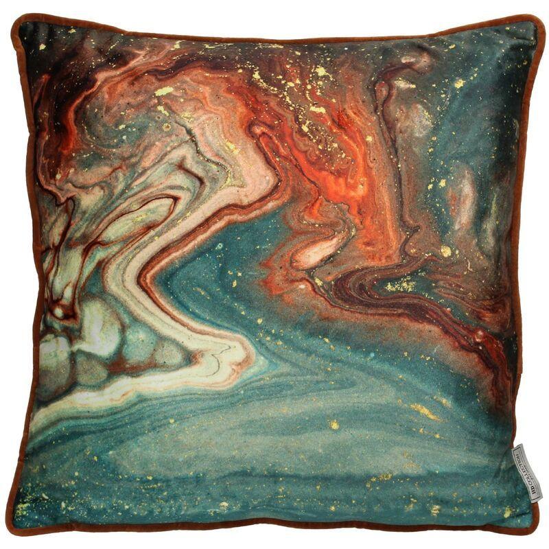 Cushion agate velvet mix 45x45cm