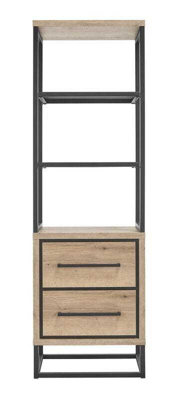 Boekenkast Sontari houtstructuur/metaal