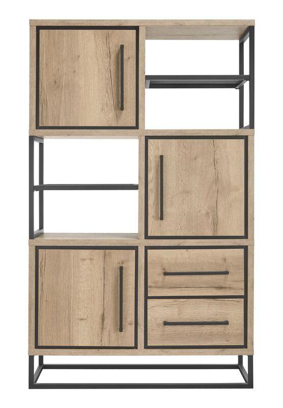 Opbergkast Sontari houtstructuur/metaal