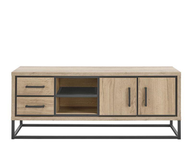 TV-Meubel Sontari houtstructuur/metaal