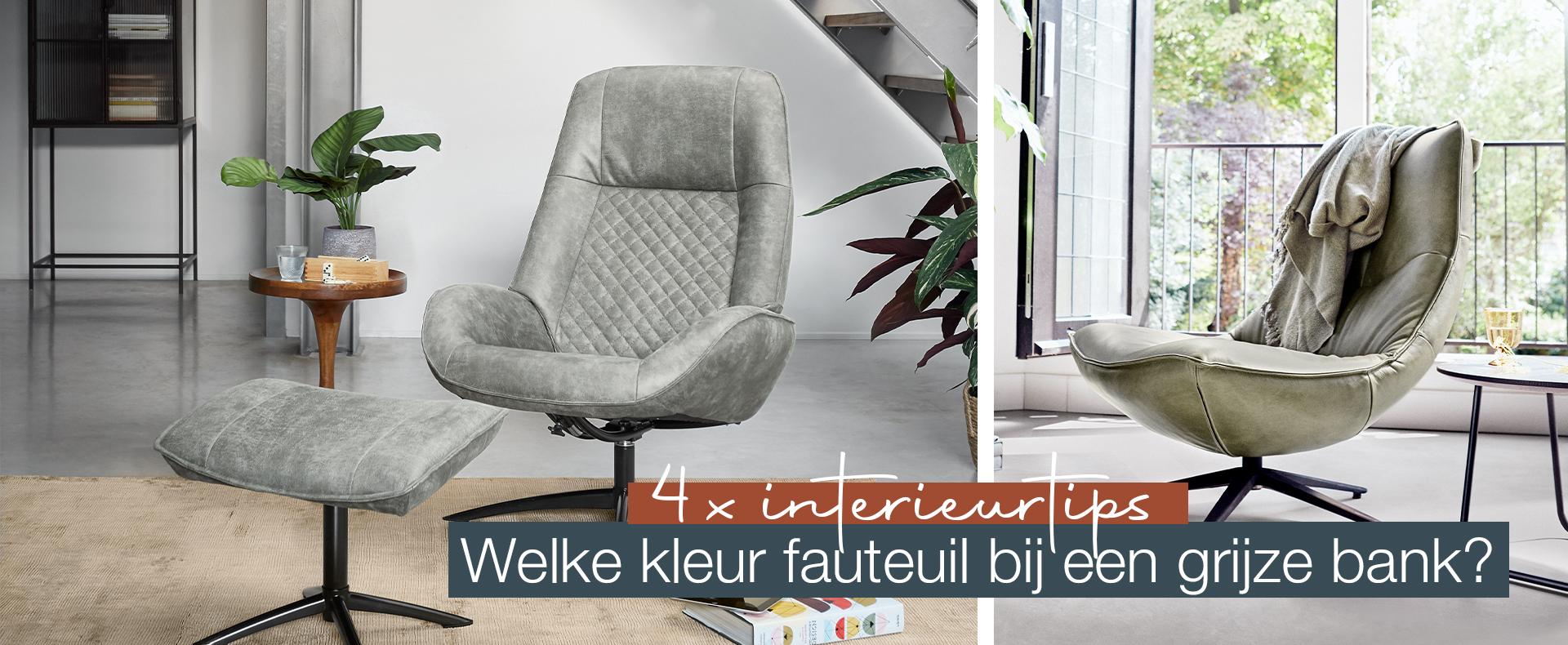 4x Interieurtips: Welke kleur fauteuil bij een grijze bank?
