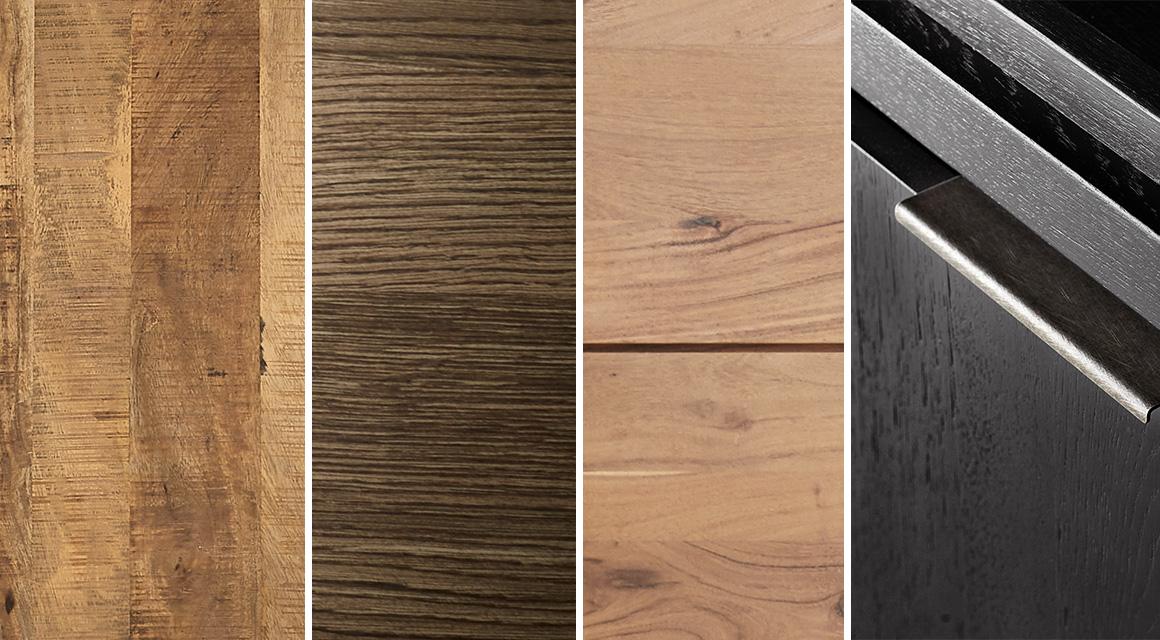 Verschillende houtstructuren