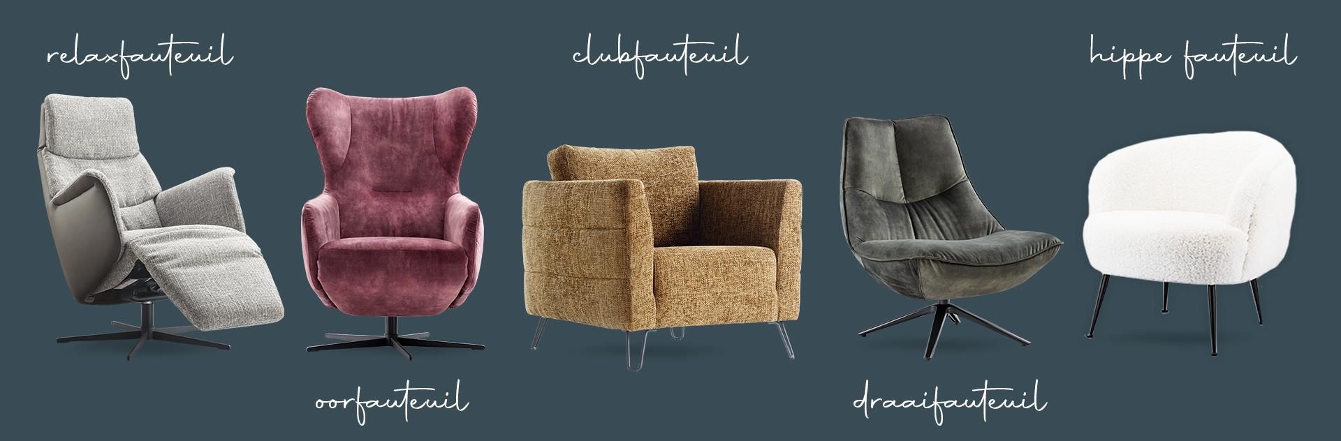 Alle soorten fauteuils